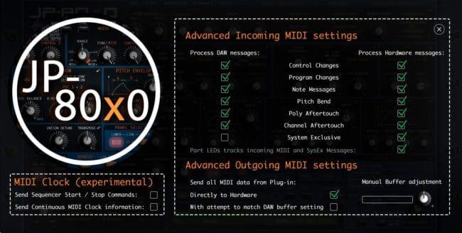 Roland JP-80x0 Advanced MIDI Settings