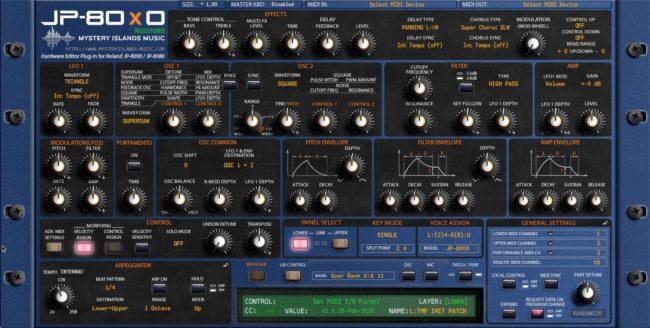 Roland JP-80x0 Velocity Assign