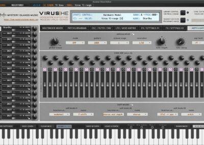 access virus editor arpeggiator ti