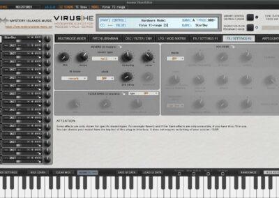 access virus editor effects 2 ti