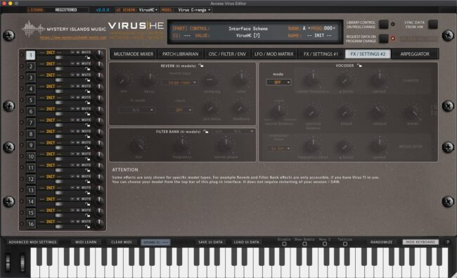 access virus editor effects2 legacy