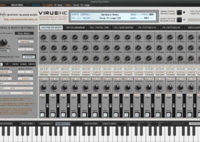 access virus editor extended mixer ti