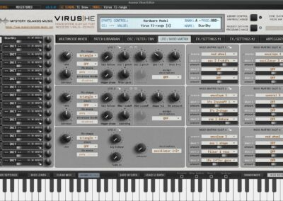access virus editor lfo mod matrix ti
