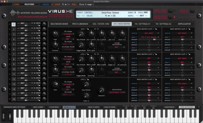 access virus editor lfo mod matrix ti1