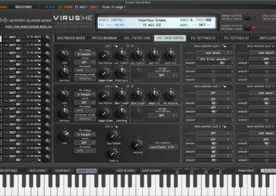 access virus editor lfo mod matrix ti2