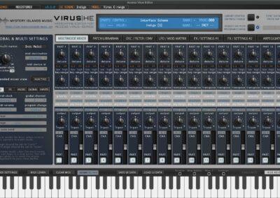 access virus editor multimode mixer indigo