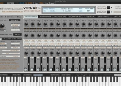 access virus editor multimode mixer snow