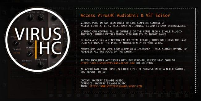 access virushc editor v2 beta about