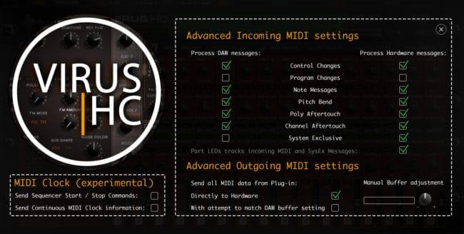 access virushc editor v2 beta advanced midi settings