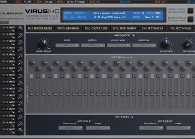 access virushc editor v2 beta c arpeggiator indigo