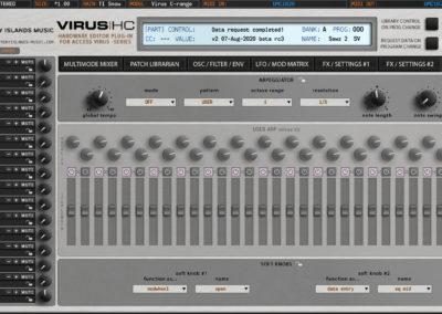access virushc editor v2 beta c arpeggiator snow