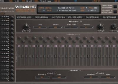 access virushc editor v2 beta c arpeggiator vhc