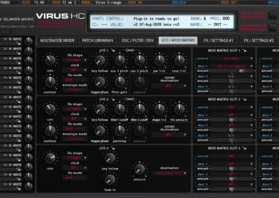 access virushc editor v2 beta c lfo modmatrix ti1