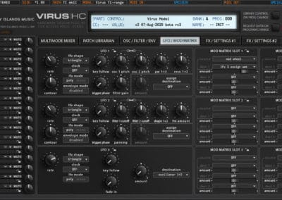 access virushc editor v2 beta ti lfo modmatrix ti2