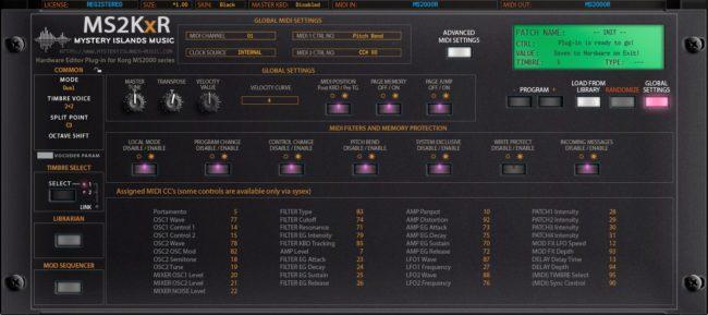 korg ms2kxr global settings v2 black