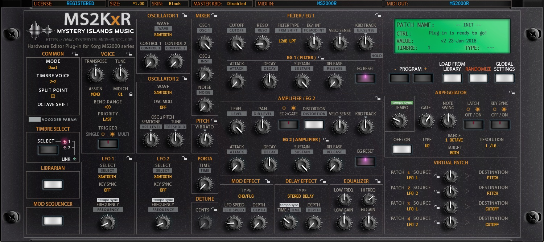 Korg MS2KxR Main User Interface