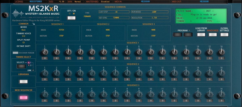Korg MS2KxR AudioUnit & VSTi Librarian Editor Plug-in