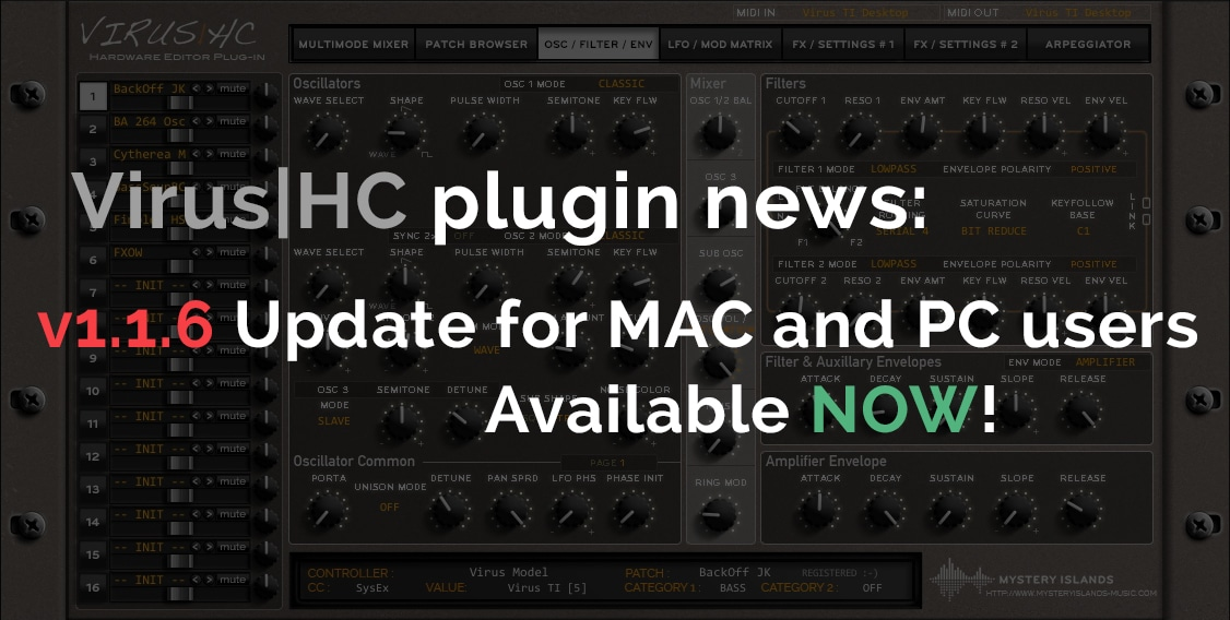 Access Virus|HC v1.1.6 Update out now!