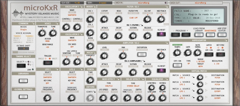 Korg microKxR AudioUnit & VST Librarian Editor Plug-in