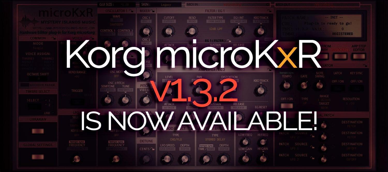 Korg microKxR update v1.3.3 available