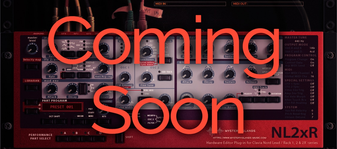 Coming soon: Clavia Nord Lead 1 / 2 / 2X Editor & Librarian
