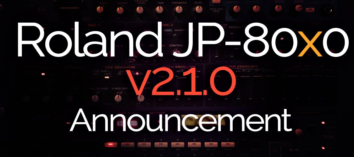 Roland JP-80×0 Update Announcement – v2.1.0