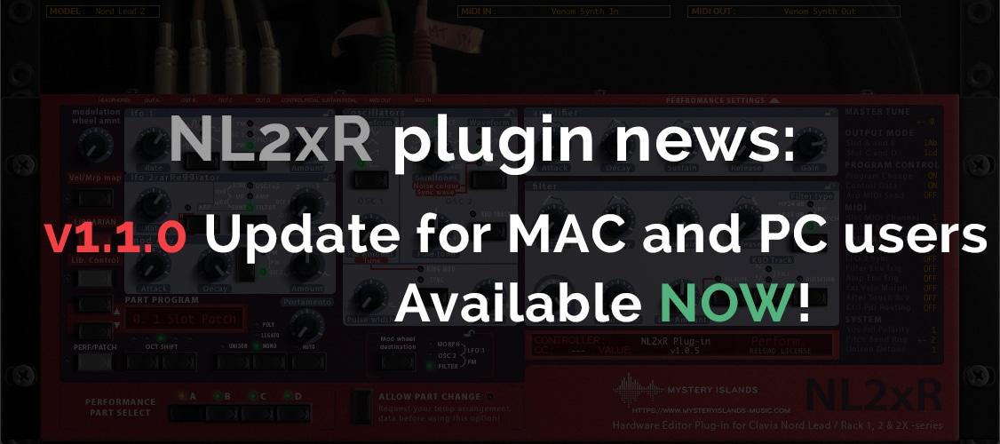 Clavia NL2xR update version 1.1.0