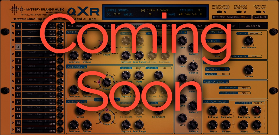 Waldorf Q, Q+ and microQ AudioUnit & VST plug-in pre-order available