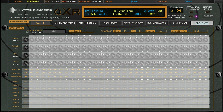 Waldorf qXr AudioUnit & VST Librarian Editor Plug-in