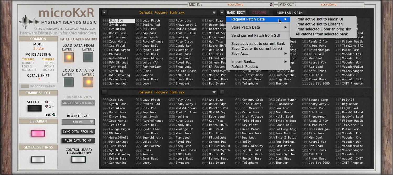 Korg microKxR Editor & Librarian for Korg microKorg updated to v1