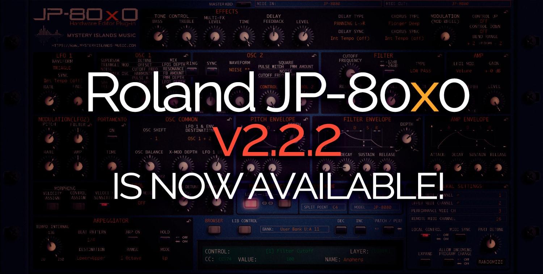 Roland JP-80×0 Update – Version 2.2.2