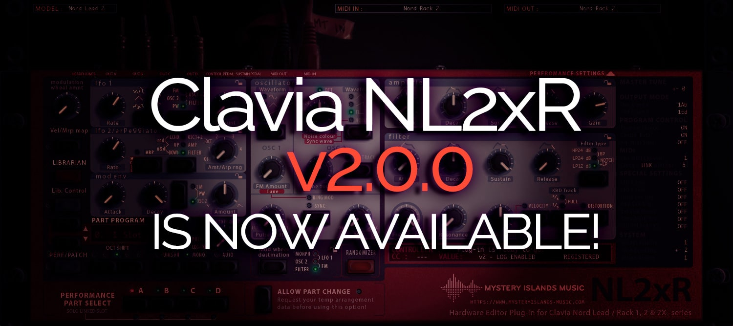 Clavia NL2xR Update v2.0.0 Available