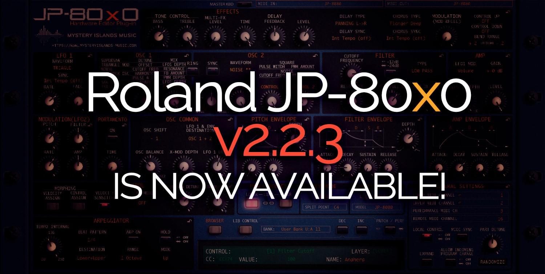 Roland JP-80×0 Update – Version 2.2.3