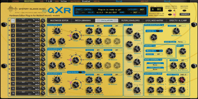 Waldorf microQxR Oscillators Yellow