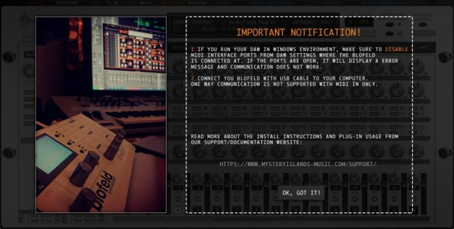 Waldorf bloX First Run notification