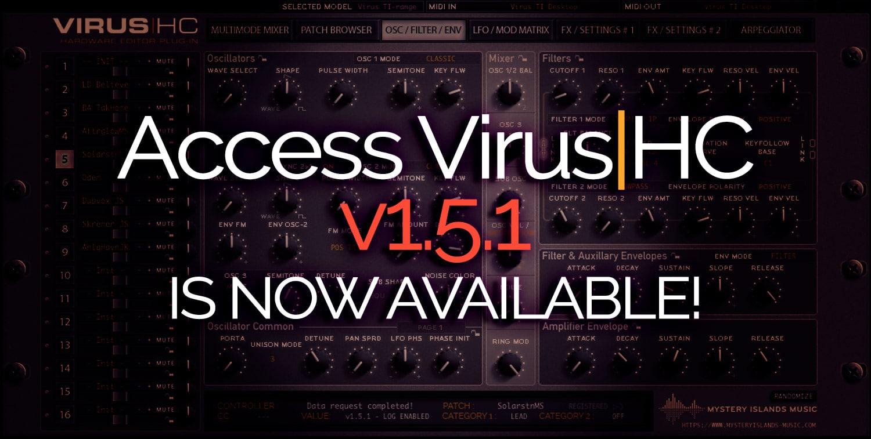 Access VirusHC v1.5.1 Update available
