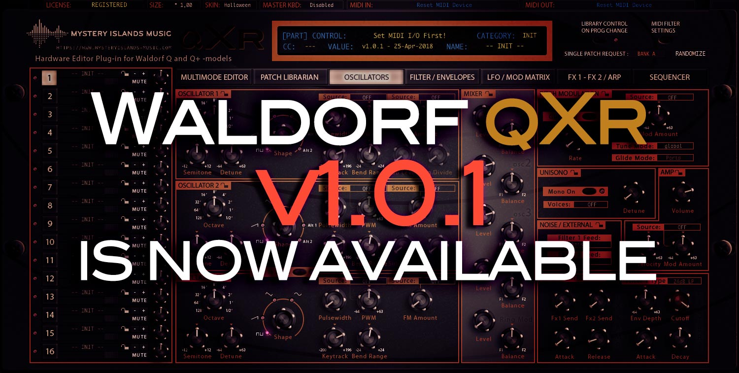 Waldorf qXr v1.0.1 Update available