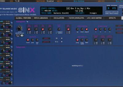 Novation SNX Arpeggiator (Nova Desktop)
