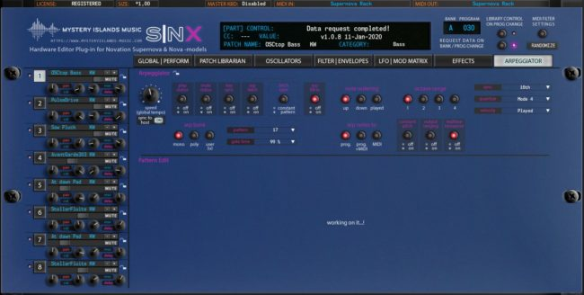Novation SNX Arpeggiator (Supernova Rack)