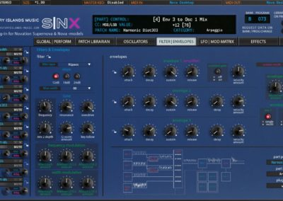Novation SNX Filters & Envelopes (Nova Desktop)