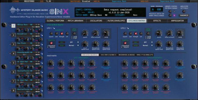 Novation SNX LFO and Mod Matrix (Supernova Rack)