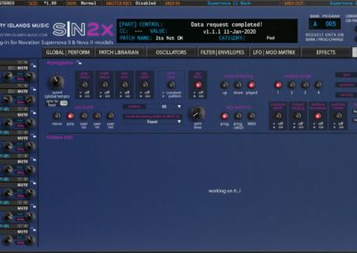 Novation SN2X Arpeggiator Blue