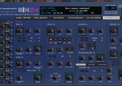 Novation SN2X Effects Blue