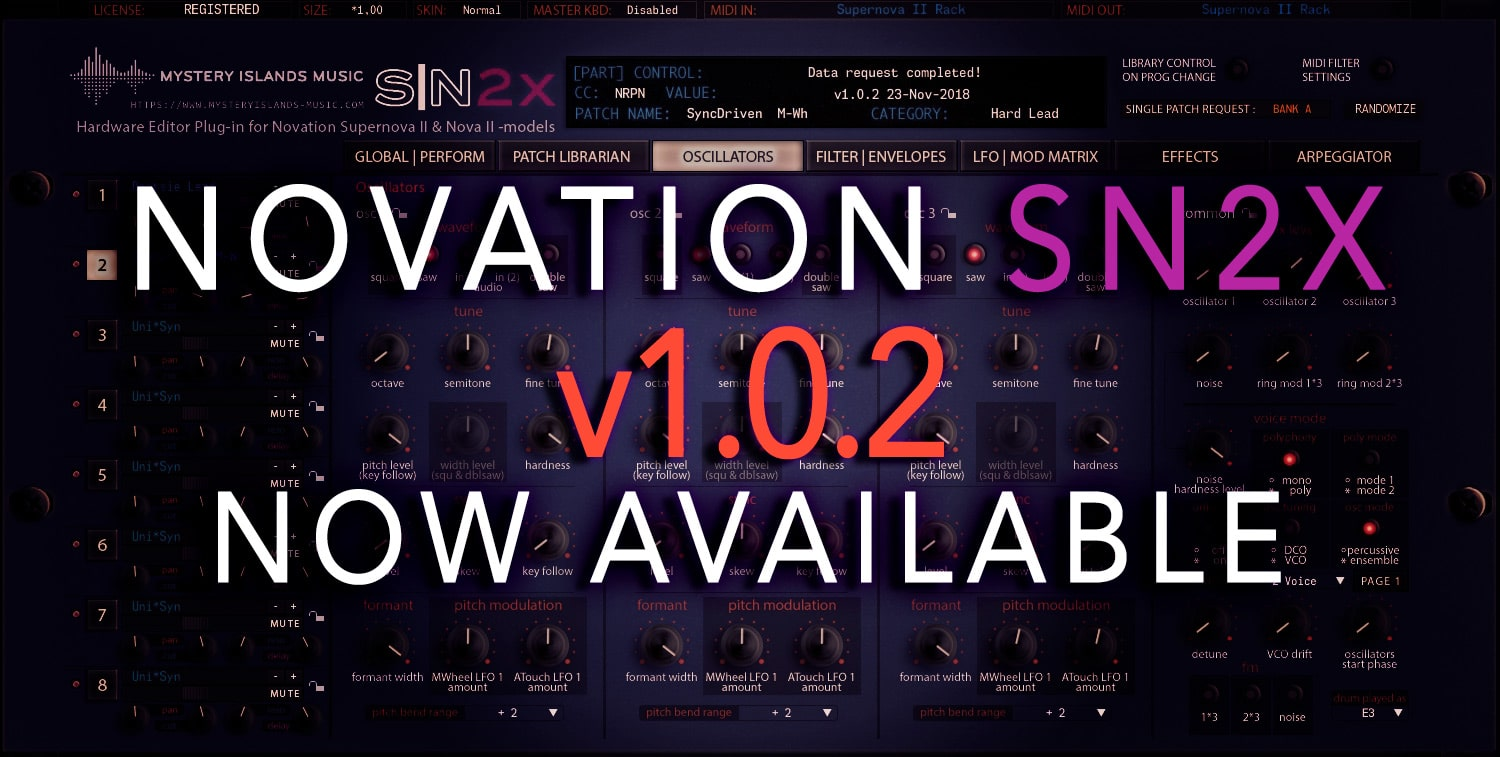 Novation SN2X Update v1.0.2 Available Now