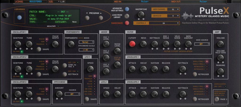 waldorf pulsex main interface v100