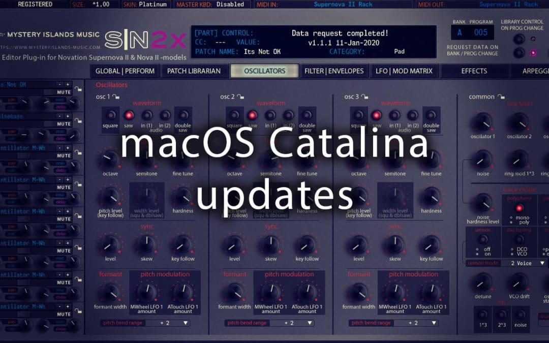 macOS Catalina updates