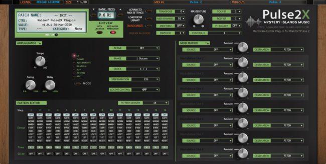 Waldorf Pulse2X Arp Editor